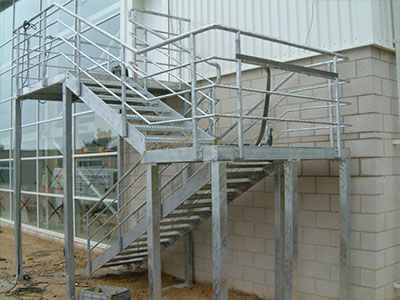 Galvanised Exterior Staircase