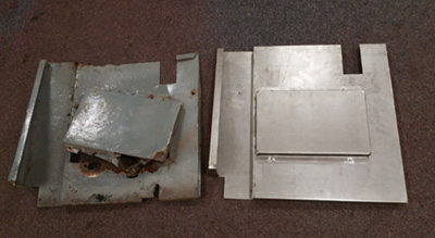 Old & New Galvanised Mud Flaps