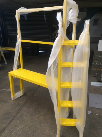 Powder Coated Aluminium Platform With Removeable Steps