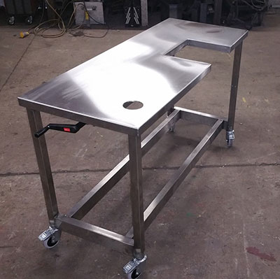 Stainless Steel Height Adjustable Table
