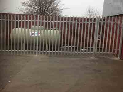 Galvanised Security Fence