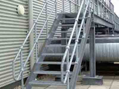 Galvanised Stairs & Platform