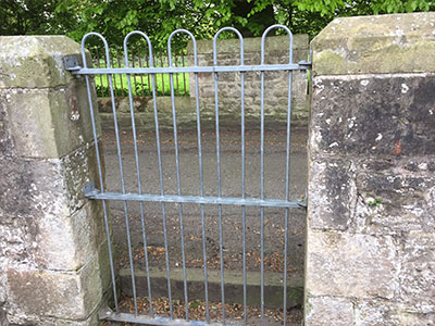 Galvanished School Gate