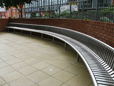 Stainless Steel Curved Seat